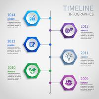 Zeitleiste Infografiken aus Papier vektor
