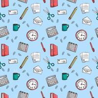 Nahtlose Büro Briefpapier Muster Hintergrund vektor