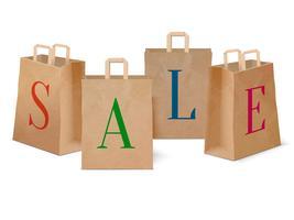 Försäljningspapper shoppingkassar