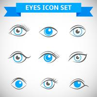 Augen-Icons Set