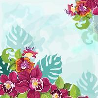 Tropisk blomma bakgrund vektor