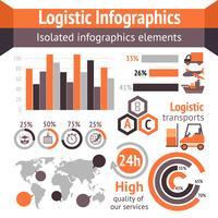 Logistische Zustellinfografiken vektor
