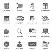 Einkaufen von E-Commerce-Icons