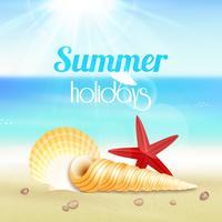 Sommarlov semester reser affisch vektor