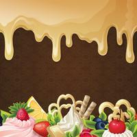 Karamell sötsaker bakgrund