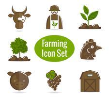 Jordbruks ikonuppsättning