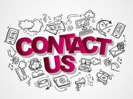 Kontaktieren Sie uns Skizzenikonen Zusammensetzung
