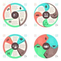 Träffa människor online infographic pictograms set vektor