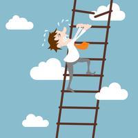 Affärsman karaktär karriärutveckling koncept