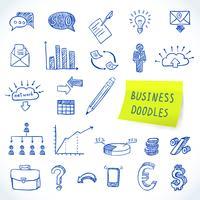 doodle business set vektor