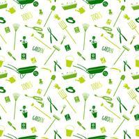 Gartengeräte nahtlose Muster