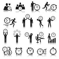 Zeit Management Icons Set