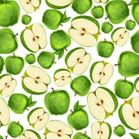 Seamless äpplefrukt skivad mönster