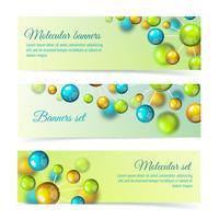 Färgade molekyl banners 3d set