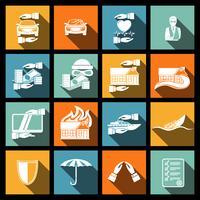 Försäkringssäkerhetsikoner inställda