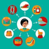 Online shopping ikoner