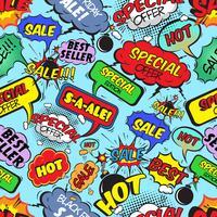 Comic bubblor sömlös försäljning