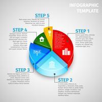 Kreisdiagramm Immobilien Infografik vektor