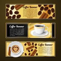 Kaffeefahnen horizontal