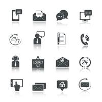 Kontakta oss Service Icons Set