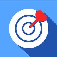 Dart im Dartboard-Symbol vektor