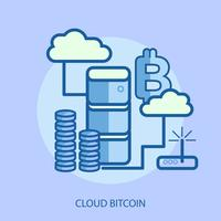 Cloud Bitcoin Konceptuell illustration Design