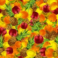 Tropisk frukt sömlös bakgrund