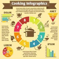 Matlagning infographic ikoner vektor