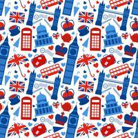 Seamless mönster bakgrund med London