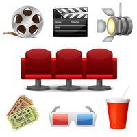 Dekorative Ikonen der Kinounterhaltung