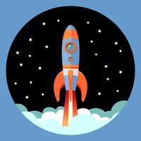 Raketenstart-Emblem vektor