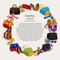 Luxus-Mode-Shopping-Rahmen vektor