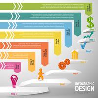 Treppenhaus Infographik Vorlage