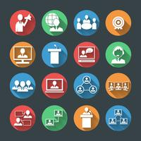 Geschäftsleute Icons Set