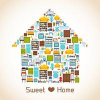 Süßes Zuhause Konzept