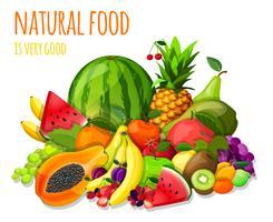 Frukt sätter stilleben vektor
