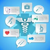 Medicinska papper infografiska vektor