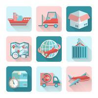 Logistiska platta ikoner