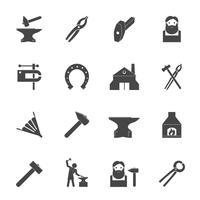 smed ikoner uppsättning