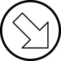 Rechts unten Vektor Icon