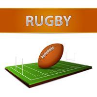 Fußball- oder Rugbyball-Emblem
