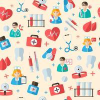 Medicinsk sömlös mönster bakgrund