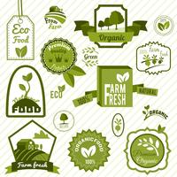 Grüne Öko-Etiketten vektor