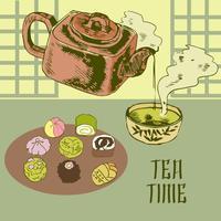 Japanische Teekanne und Tasse