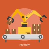 Fabrik konzeptionelle Abbildung Design