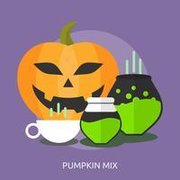Pumpkin Mix Konceptuell Illustration Design