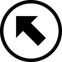 Vektor Icon oben gelassen