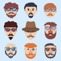 Hipster junge Gesichter