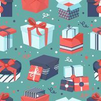 Geschenkboxikonen eingestellt vektor