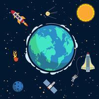 Jorden i rymden vektor